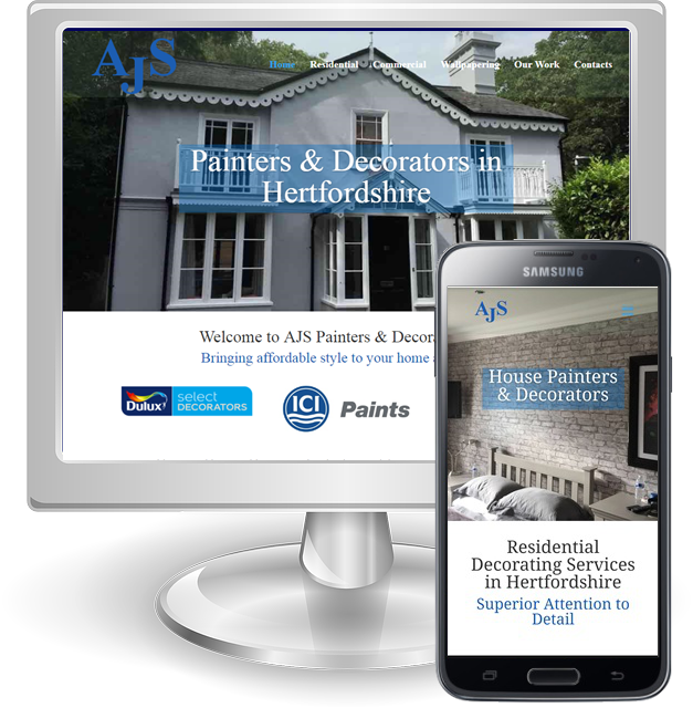 Websites for Decorators in Hertfordshire