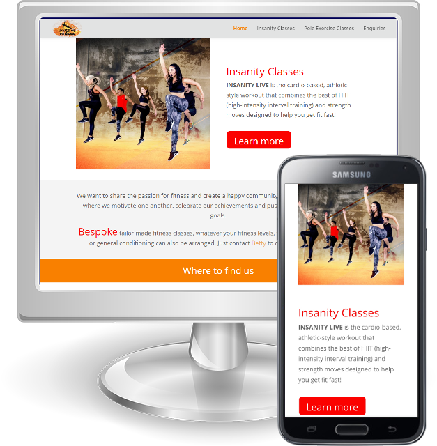 Websites for personal trainers in Hertfordshire