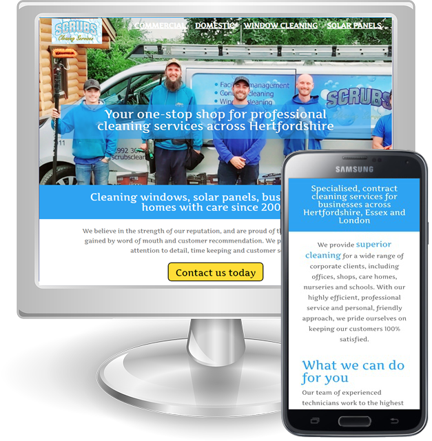 Websites for cleaners in Hertfordshire